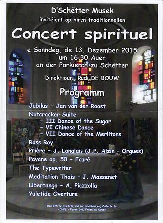 Concert spirituel Schëtter Musek