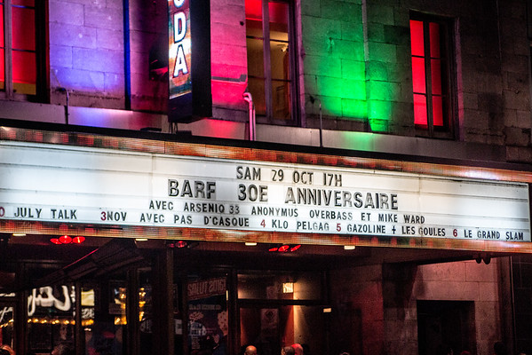 Barf 30e anniversaire avec Anonymus, Overbass, Arseniq 33 Club Soda 29-10-16