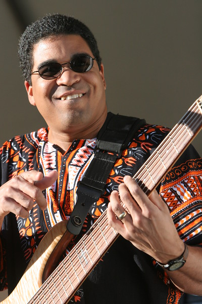 Oteil Burbridge, bass player of the Allman Brothers, performing with his own band, Oteil and the Peacemakers, at the 2005 Jazz Aspen Festival, Colorado