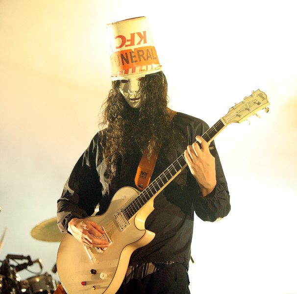 Clear look at Buckethead - from the 2006 Langerado Festival in Markham Park, Sunrise, Florida