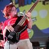 Bassist Busta Gnutt of Johnny Sketch and the Dirty Notes at the 2006 Langerado Festival in Markham Park, Sunrise, Florida