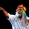 George Clinton getting the crowd involved during a Parliament Funkadelic performance during the Gathering of the Vibes festival in Bridgeport, CT, August 2009.