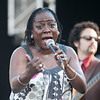 """Sharon Jones """"ticking off"""" things about her man during her performance with the Dap Kings at the 2010 Gathering of the Vibes at Seaside Park in Bridgeport, CT."""