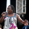 Sharon Jones during her performance with the Dap Kings at the 2010 Gathering of the Vibes at Seaside Park in Bridgeport, CT.
