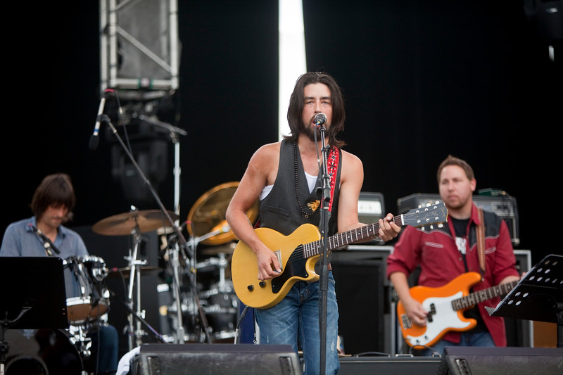 Jackie Green and his band performing at the 2010 Gathering of the Vibes music festival at Seaside Park in Bridgeport, CT.