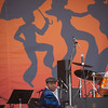 Al 'Little Fats' Jackson performing during the Tribute to Dave Bartholomew and Fats Domino on the Acura stage, April 28.