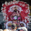 A Golden Eagle Indian during their performance on the Jazz & Heritage stage, April 28.