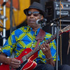 """Walter """"Wolfman"""" Washington, a living legend, plays before the crowd at the Congo Square stage, April 28."""
