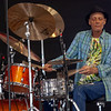 The legendary Johnny Vidacovich performing with Astral Project in the Jazz Tent, April 26.