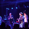 Karl Denson's Tiny Universe (KDTU) expanded to include Anders Osborne (2d from left) and Carl Dufrene (3d from right) as they play Wild Horses during their performance of the entire Rolling Stones' Sticky Fingers album at the Soundstage in Baltimore, MD (2-10-12).