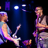 Anders Osborne jams with KDTU's guitarist DJ Williams during their perfromance of the Rolling Stones' Sticky Fingers album at the Soundstage in Baltimore, MD (2-10-12).