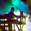 Disco Biscuits keyboardist Aron Magner performing at Rothbury 2009