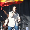 Damian Marley performning during a set with NAS at Rothbury 2009