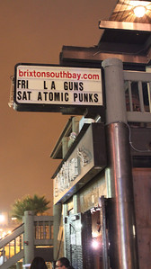 The Brixton Marquee.  L.A. Guns play The Brixton Southbay in Redondo Beach, CA on August 12, 2011 with VH-1 on site filming for a new series.  Photos by Erin Suggett for L.A. Guns © Erin Suggett Photography - All Rights Reserved 2011