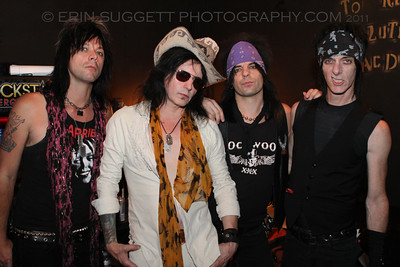 Backstage Photo Shoot with L.A. Guns.  L.A. Guns play The Brixton Southbay in Redondo Beach, CA on August 12, 2011 with VH-1 on site filming for a new series. Photos by Erin Suggett for L.A. Guns © Erin Suggett Photography - All Rights Reserved 2011