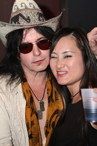 Phil & Junko Lewis backstage.  L.A. Guns play The Brixton Southbay in Redondo Beach, CA on August 12, 2011 with VH-1 on site filming for a new series.  Photos by Erin Suggett for L.A. Guns © Erin Suggett Photography - All Rights Reserved 2011