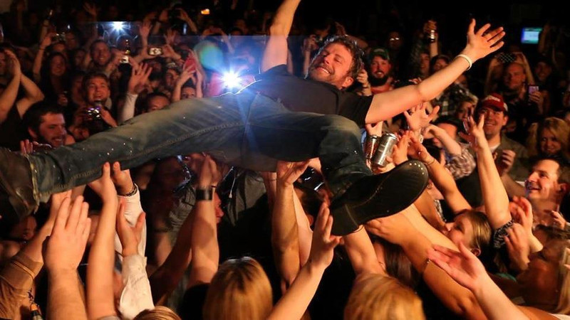 Didn't take this one...I am underneath Dierks!! :-P  Another AWESOME show at Joe's Bar in Chicago!!