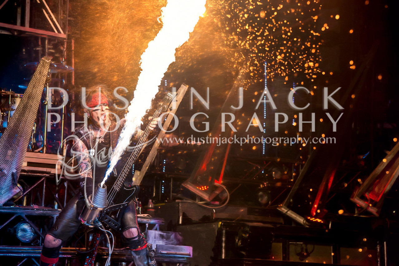 Nikki Sixx Flame Thrower