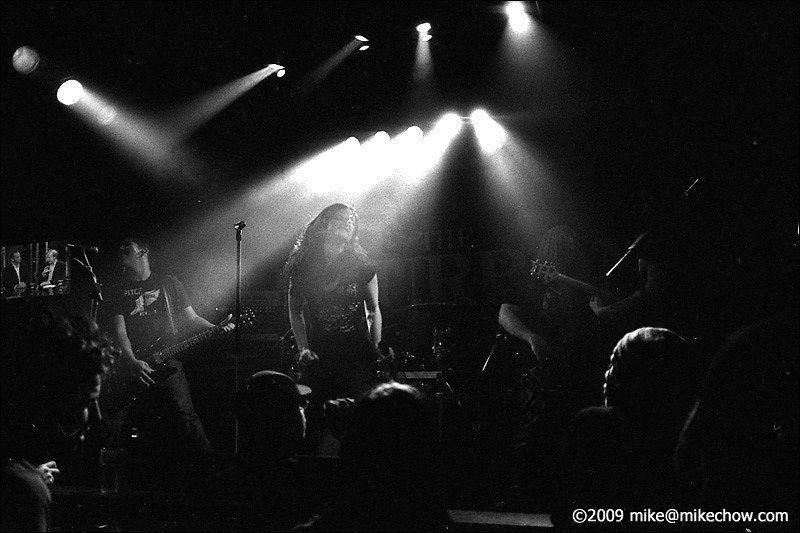 """The Fury live at The Bourbon, November 27, 2009. Macula's """"Pride and Panic"""" CD release party."""