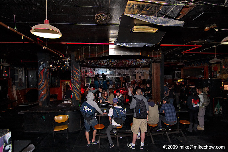 The Cobalt, September 27, 2009.<br /> <br /> The view from the back of the bar. Even from here the sight lines to the stage aren't bad which was why along with the great sound system and cheap beer, The Cobalt was one of the best pure show venues in town regardless of the event.