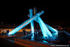 Olympic cauldron, Vancouver BC, July 1, 2010.
