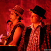 The Cur Tails watching the Lonesome Crows, Miz Kitty's Parlour Fall Follies, Alberta Rose Theater, Portland, OR, October 11, 2014.
