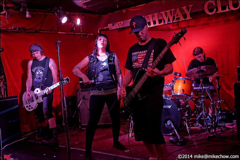 Glorywhore live at The Railway Club, Vancouver BC, August 3, 2014.