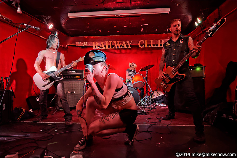 Wett Stilettos live at The Railway Club, Vancouver BC, August 3, 2014.