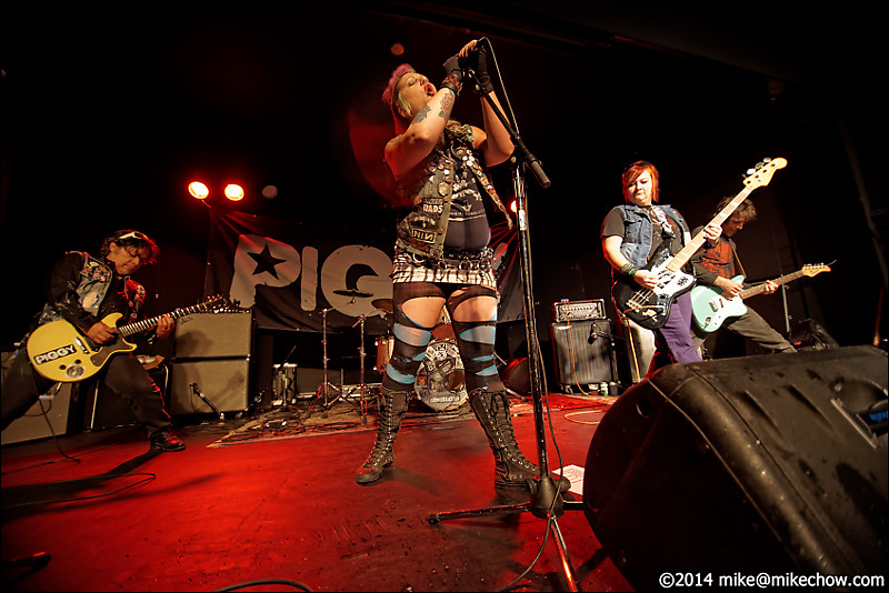 Piggy live at the WISE Hall, Vancouver BC, July 25, 2014.