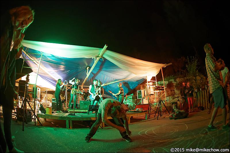 Block party at Britannia Beach, BC, August 15, 2015.