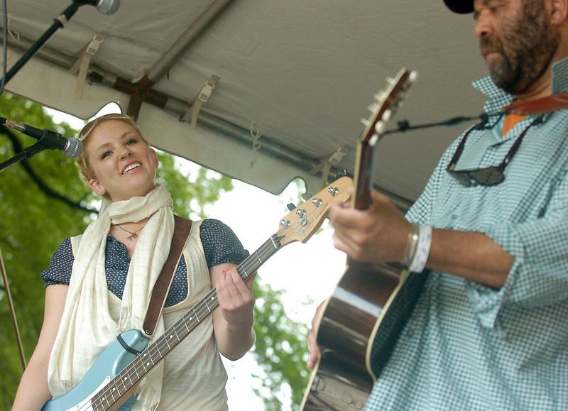 Chicago Blues Festival<br /> June 8, 2008<br /> <br /> Otis Taylor with Ann Harris