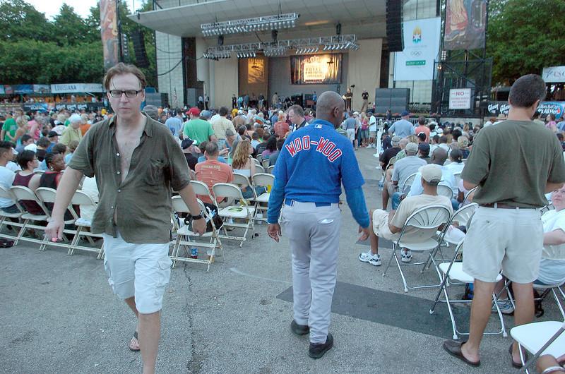 "Chicago Blues Festival<br /> June 8, 2008<br /> <br /> Cub ""superfan"" Ronnie Wo Woo"