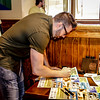 Danny Gokey signing posters for guests at SonRise Music Festival VIP Luncheon Friday 2-20-18 with Danny Gokey and Building 429