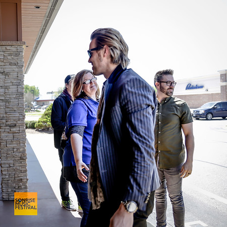 Jason Roy of Building 429 arriving in the limo - SonRise Music Festival VIP Luncheon Friday 2-20-18 with Danny Gokey and Building 429
