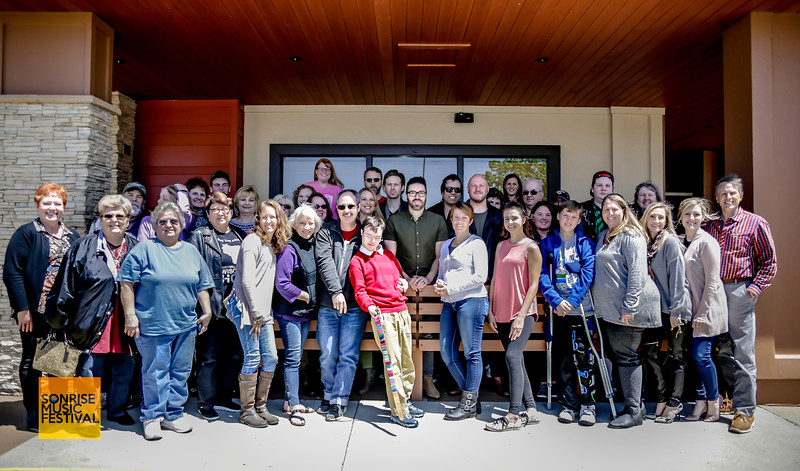 Group Photo for SonRise Music Festival VIP Luncheon Friday 2-20-18 with Danny Gokey and Building 429