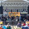 Jen Creasy making announcements at SonRise Music Festival Saturday 4-21-18 (by Annette Holloway Photography )