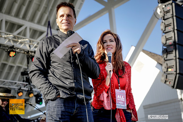 Emcees Sean G. Park and Wendy Griffith - SonRise Music Festival (by Annette Holloway Photography for SonRise)