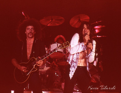 Journey, Grand Rapids, Michigan, 1979. From left: Neal Schon, Aynsley Dunbar, Steve Perry