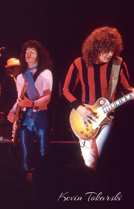 REO Speedwagon, Grand Rapids, Michigan, 1980: From left Neal Doughty, Kevin Cronin, Gary Richrath