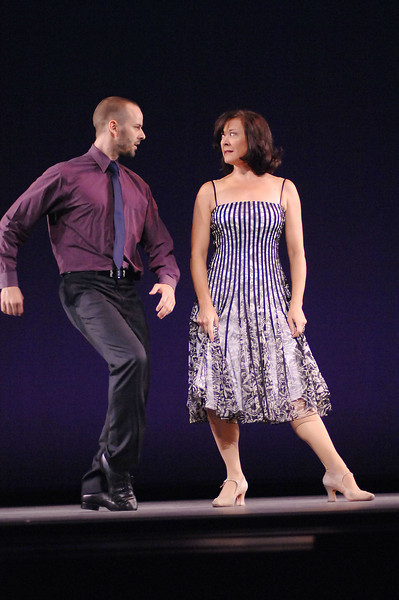 """Oct. 27th,New York City,<br /> Karen Ziemba and Noah Racey in a duet from """"Crazy for You""""<br /> during the dress rehearsal of On Broadway!<br /> (Credit Image: © Chris Kralik/KEYSTONE Press)"""