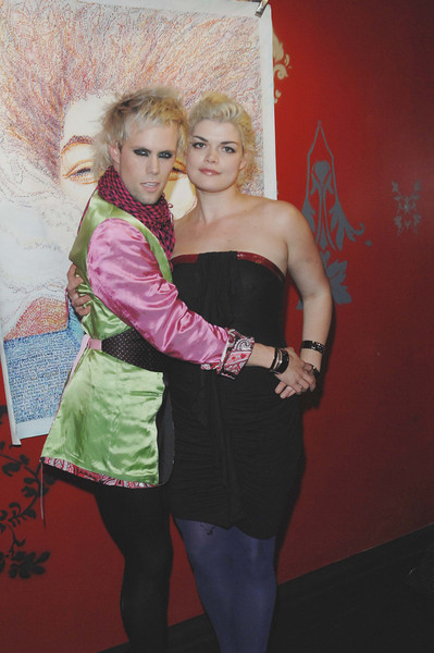 """Nov 5th,New York City,<br /> Justin Tranter and Platinum Anne <br /> of the Semiprecious Weapons make an entrance at<br /> The after election """"Let's Make It Work"""" party<br /> (Credit Image: © Chris Kralik/KEYSTONE Press)"""