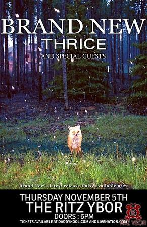 Brand New & Thrice November 5, 2009
