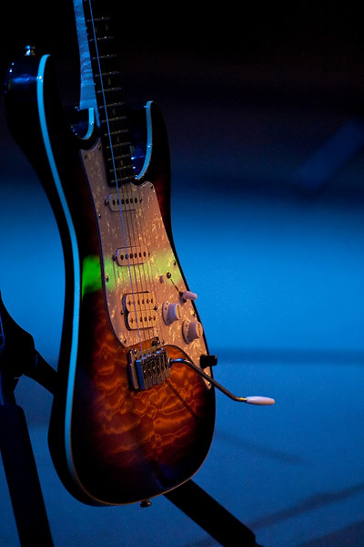 20 July 2009: A guitar at the 2009 National Worship Leader Conference at Church of the Resurrection in Leawood, KS.