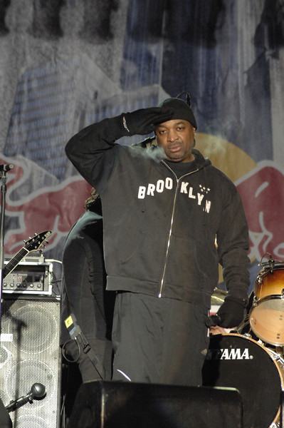 Red Bull Snowscrape, featuring Anthrax, and guest appearance by the legendary rapper Chuck D<br /> <br /> February 9th, 2009, New York City<br /> © 2009 by Chris Kralik/ Retna Ltd.