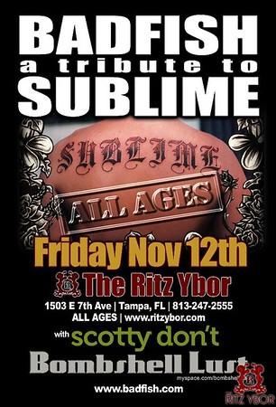 Badfish a Tribute to Sublime / Scotty Don't November 12, 2010