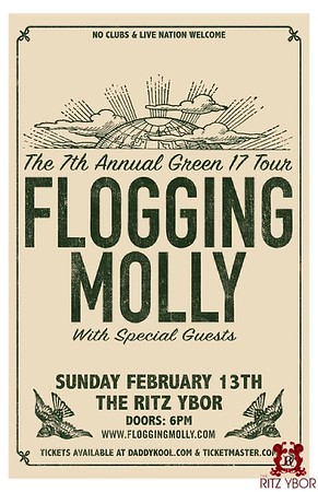 Flogging Molly February 13, 2011 Coming Soon!