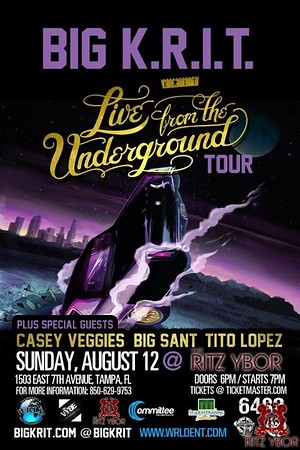 Big K.R.I.T. Live From The Underground Tour August 12, 2012