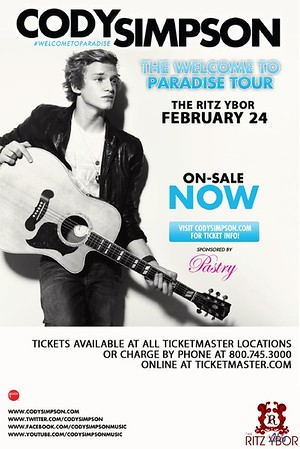 """Cody Simpson & Jessica Jarrell """"The Welcome To Paradise Tour"""" February 24, 2012"""