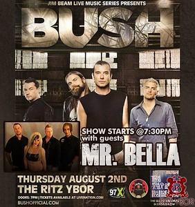 Jim Beam Live Music Series Presents BUSH August 2, 2012