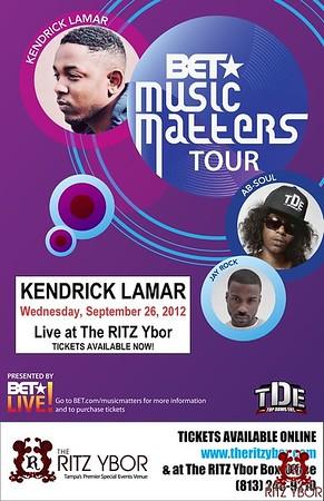 Kendrick Lamar BET Music Matters Tour September 26, 2012